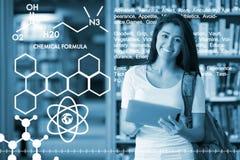Imagen compuesta de la imagen gráfica de fórmulas químicas Fotografía de archivo