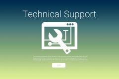 Imagen compuesta de la herramienta con el texto del soporte técnico ilustración del vector