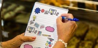 Imagen compuesta de la imagen compuesta de los iconos coloreados multi del ordenador Foto de archivo libre de regalías