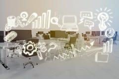 Imagen compuesta de la imagen compuesta de los iconos 3d del negocio Fotos de archivo libres de regalías