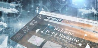 Imagen compuesta de la imagen compuesta del interfaz del sitio web libre illustration