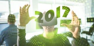 Imagen compuesta de la imagen digital del Año Nuevo 2017 Fotografía de archivo libre de regalías