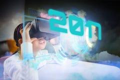Imagen compuesta de la imagen digital del Año Nuevo 2017 Imagen de archivo