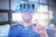 Imagen compuesta de la imagen digital del Año Nuevo 2017 Foto de archivo