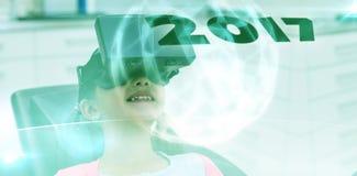 Imagen compuesta de la imagen digital del Año Nuevo 2017 Fotos de archivo