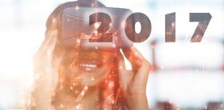 Imagen compuesta de la imagen digital del Año Nuevo 2017 Imágenes de archivo libres de regalías