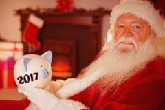 Imagen compuesta de la imagen digital del Año Nuevo 2017 Foto de archivo libre de regalías