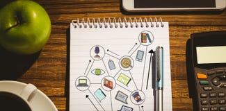 Imagen compuesta de la imagen gráfica de la carta de negocio Imagenes de archivo