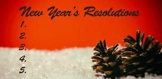 Imagen compuesta de la lista de la resolución de los Años Nuevos Imágenes de archivo libres de regalías