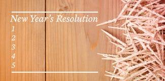 Imagen compuesta de la lista de la resolución de los Años Nuevos Imagen de archivo libre de regalías