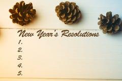 Imagen compuesta de la lista de la resolución de los Años Nuevos Fotos de archivo libres de regalías