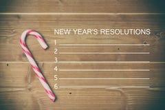 Imagen compuesta de la lista de la resolución de los Años Nuevos Foto de archivo libre de regalías