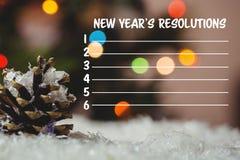 Imagen compuesta de la lista de la resolución de los Años Nuevos Fotografía de archivo libre de regalías