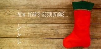 Imagen compuesta de la lista de la resolución de los Años Nuevos Fotos de archivo