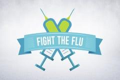 Imagen compuesta de la lucha la gripe fotografía de archivo