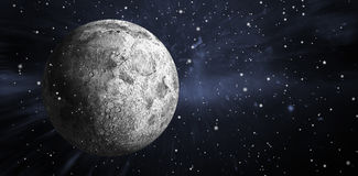 Imagen compuesta de la luna gris llena digital generada Fotografía de archivo libre de regalías