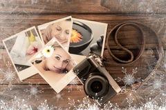Imagen compuesta de la mujer encantadora que disfruta de un masaje trasero Imagen de archivo libre de regalías