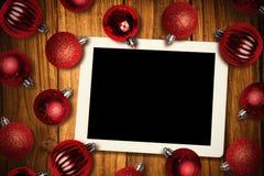 Imagen compuesta de la PC de la tableta Imagen de archivo