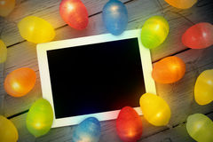 Imagen compuesta de la PC de la tableta Foto de archivo