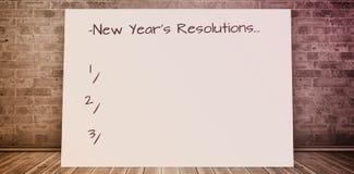 Imagen compuesta de la resolución de los Años Nuevos Imagen de archivo