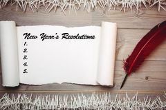 Imagen compuesta de la resolución de los Años Nuevos Foto de archivo libre de regalías