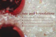 Imagen compuesta de la resolución y de la decoración de los Años Nuevos Foto de archivo libre de regalías