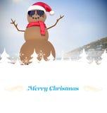 Imagen compuesta de la tarjeta de felicitación de la Navidad Foto de archivo libre de regalías