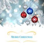 Imagen compuesta de la tarjeta de Navidad Foto de archivo