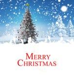 Imagen compuesta de la tarjeta de Navidad Imagen de archivo libre de regalías