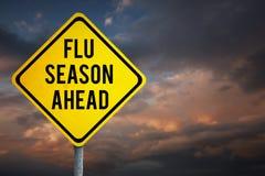 Imagen compuesta de la temporada de gripe a continuación Imágenes de archivo libres de regalías