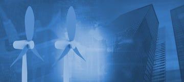 Imagen compuesta de la vista de la tecnología 3d de los datos Foto de archivo