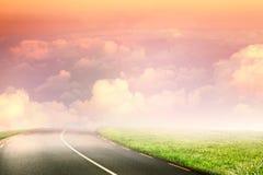 Imagen compuesta de la vista escénica del cloudscape en cielo Imagen de archivo