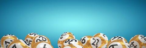 Imagen compuesta de las bolas de la lotería con nimbers ilustración del vector