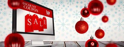 Imagen compuesta de las chucherías de la Navidad Imagen de archivo libre de regalías