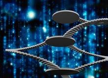 Imagen compuesta de las escaleras de la bobina Imagen de archivo libre de regalías