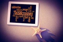 Imagen compuesta de las palabras de la acción de gracias Imagen de archivo libre de regalías