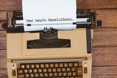 Imagen compuesta de las resoluciones de los Años Nuevos Foto de archivo