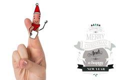 Imagen compuesta de los fingeres de la Navidad libre illustration