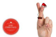 Imagen compuesta de los fingeres de la Navidad ilustración del vector