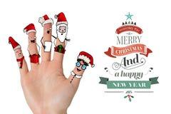 Imagen compuesta de los fingeres del caroler de la Navidad libre illustration