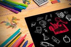 Imagen compuesta de los garabatos de la educación Imagen de archivo