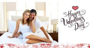 Imagen compuesta de los pares lindos de las tarjetas del día de San Valentín ilustración del vector