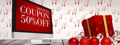 Imagen compuesta de los regalos de la Navidad Imagen de archivo libre de regalías
