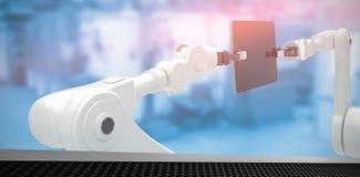 Imagen compuesta de tecnologías contra el fondo blanco 3d Fotos de archivo libres de regalías