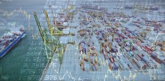 Imagen compuesta de valores de bolsa Imagen de archivo