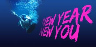 Imagen compuesta del Año Nuevo nueva usted Foto de archivo libre de regalías