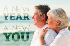 Imagen compuesta del Año Nuevo nueva usted Foto de archivo