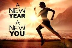 Imagen compuesta del Año Nuevo nueva usted Imagen de archivo libre de regalías
