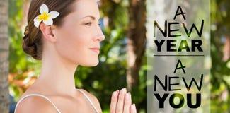 Imagen compuesta del Año Nuevo nueva usted Imagenes de archivo