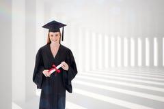 Imagen compuesta del adolescente que celebra la graduación Fotos de archivo libres de regalías